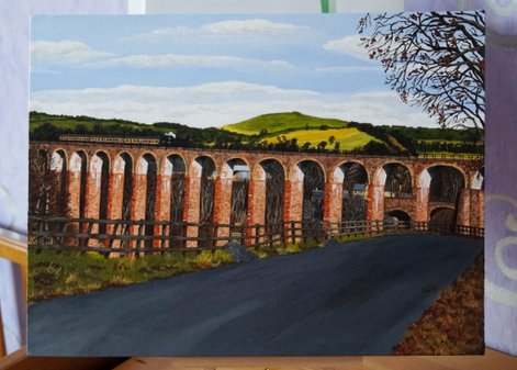 Leaderfoot Viaduct with Train